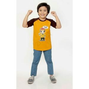 Baju Family Ziyata ZTR 01 Anak Laki Laki Kuning Coklat