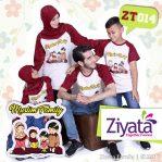 Kaos Ziyata Couple Baju Family Bandung Putih Merah ZT 014