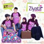 Kaos Couple Family Kaos Keluarga Couple Ziyata Ungu ZT 016