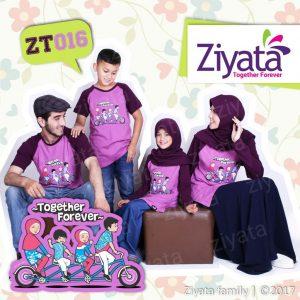Kaos Couple Family Kaos Keluarga Couple Ziyata Ungu ZT 016