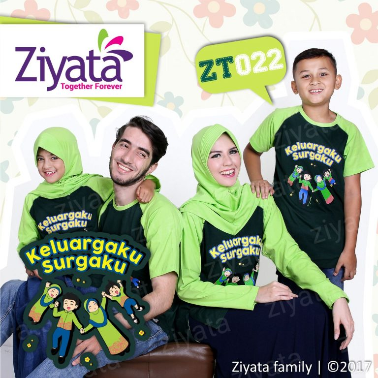 Kaos Keluarga 2 Anak