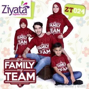 Kaos Keluarga Keren Bandung Merah Ziyata Family ZT 024