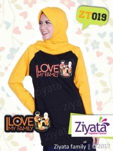 Kaos Seragam Ayah Ibu Anak Hitam Kuning Grosir Ziyata ZT19