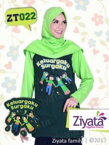 Kaos Keluarga Ayah Ibu Anak Warna Hijau Ziyata Family ZT022