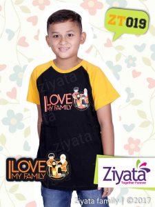 Kaos Kembaran Ayah Ibu Anak Laki Hitam Kuning Ziyata ZT019