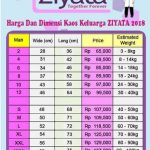 Daftar Harga Kaos Ziyata 2018