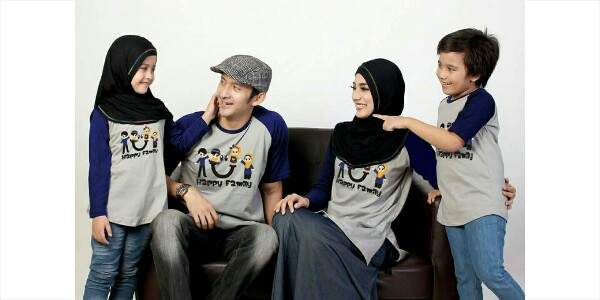 Jual Baju Family Kaos Couple Keluarga Muslim Ziyata
