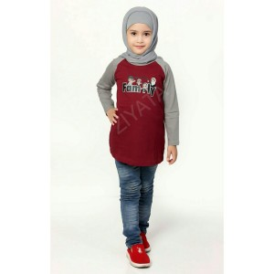 Baju Family Ziyata ZTL 02 Anak Perempuan