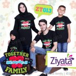 Ziyata Baju Couple Kaos Couple Keluarga Warna Hitam ZT 013
