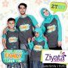 Kaos Couple Keluarga Muslim Warna Abu Tosca Ziyata ZT 017