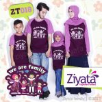 Kaos Keluarga Muslim Terbaru Kaos Couple Ungu Ziyata ZT 018