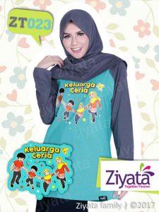 Kaos Pasangan Ayah Ibu Anak Grosir Kaos Ibu Ziyata ZT023