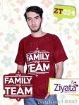 Kaos Sarimbit Ayah Ibu Anak Merah Kaos Ayah Ziyata ZT024