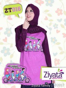 Jual Kaos Couple Ayah Ibu Anak Ungu Ziyata Family ZT 016