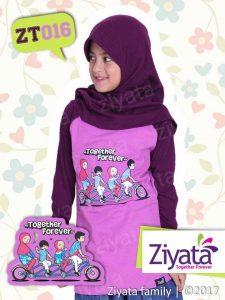 Kaos Ayah Ibu Dan Anak Perempuan Baju Ziyata Family ZT016