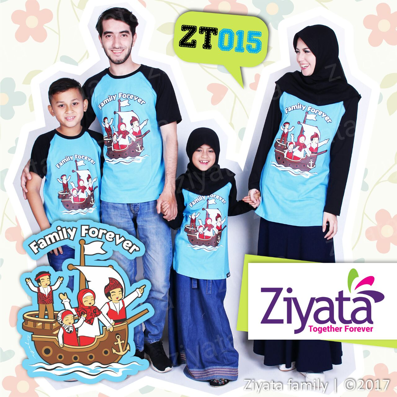 Distributor Baju Muslim Couple Suami Istri Anak