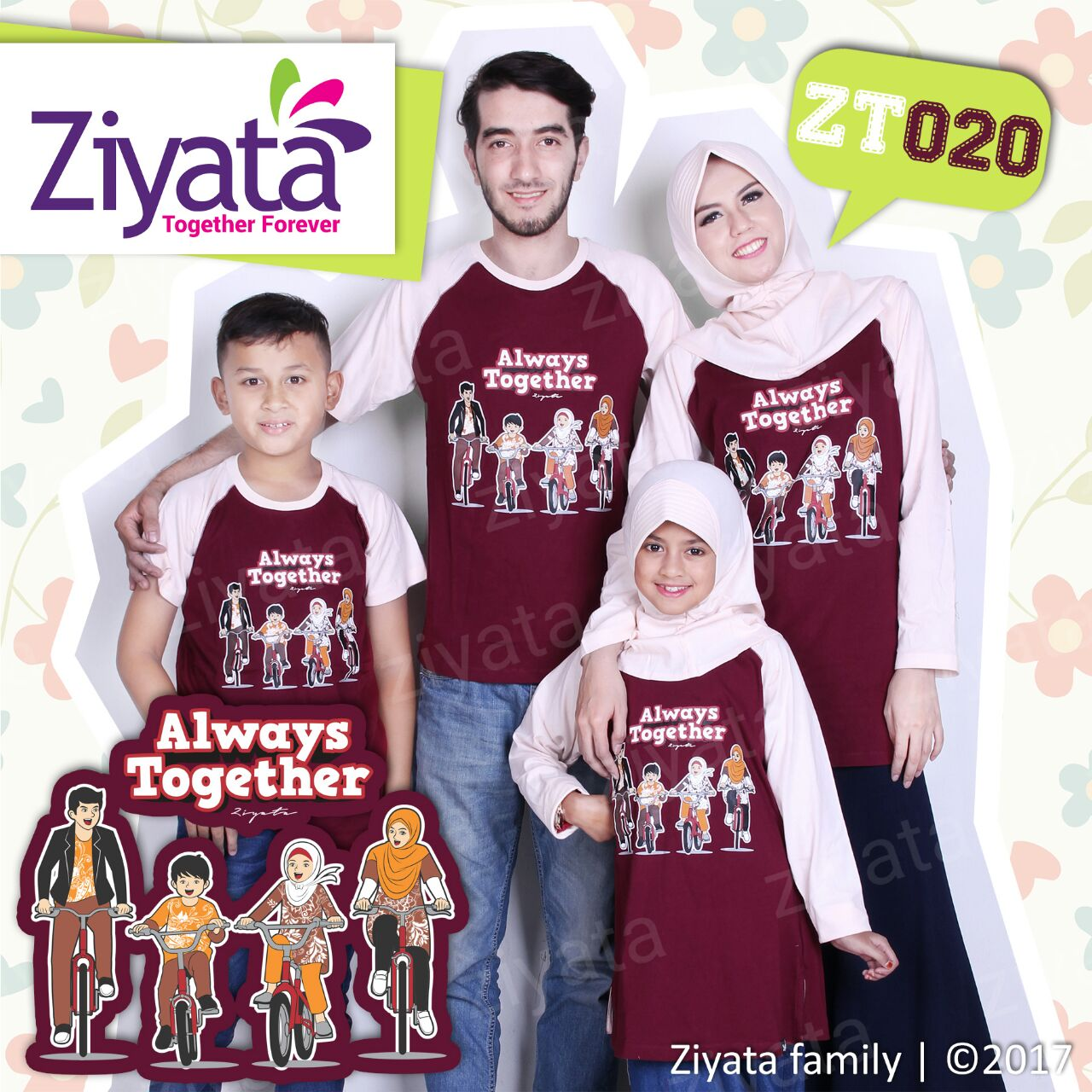 Grosir Kaos Couple Family